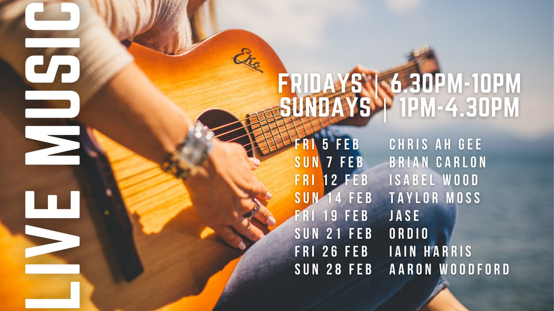 Live Music Fridays 6.30pm-10.00pm ​Sundays 1pm-4.30pm