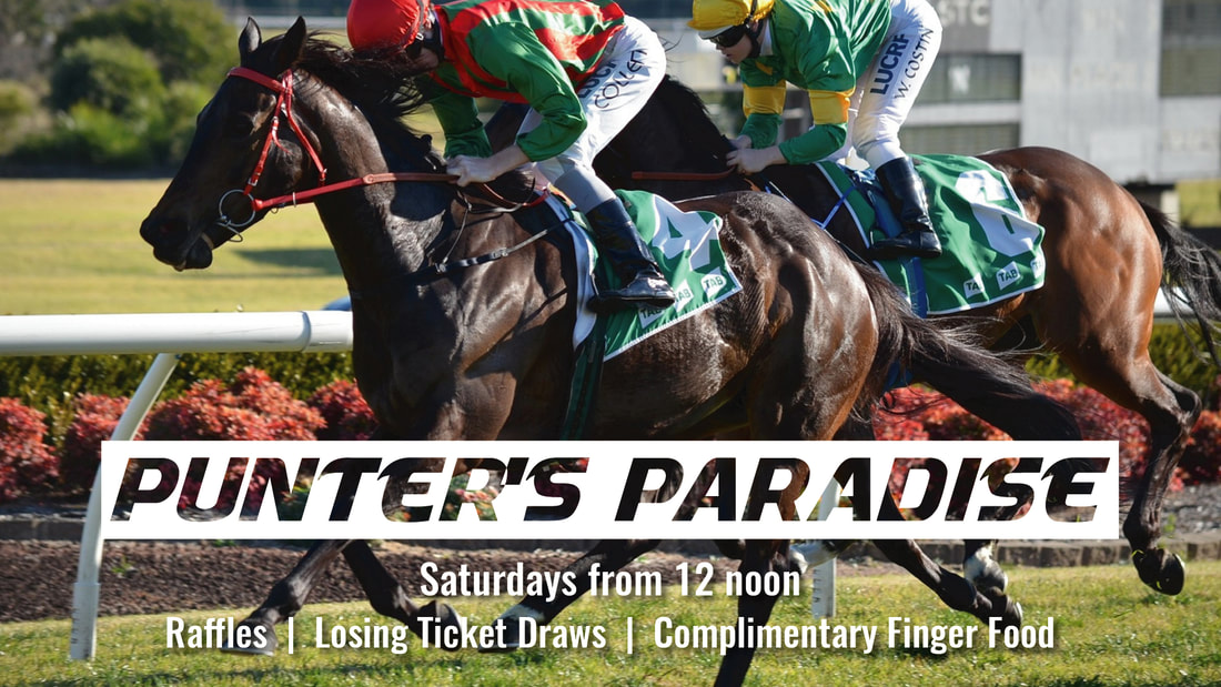 Punter's Paradise Every Saturday from 12 noon ​in the Sports Bar